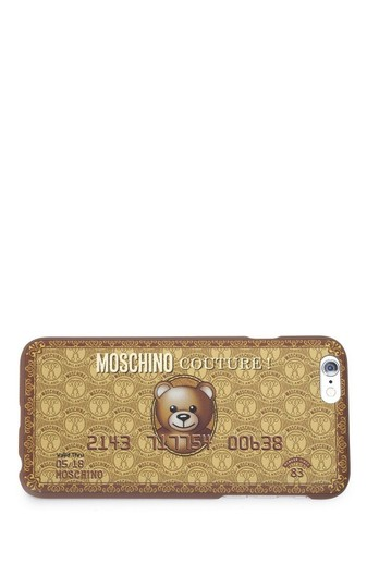 Moschino Jeremy Scott Gold Bear Credit Card iPhone 6 Plus/6S Plus Case Image 1
