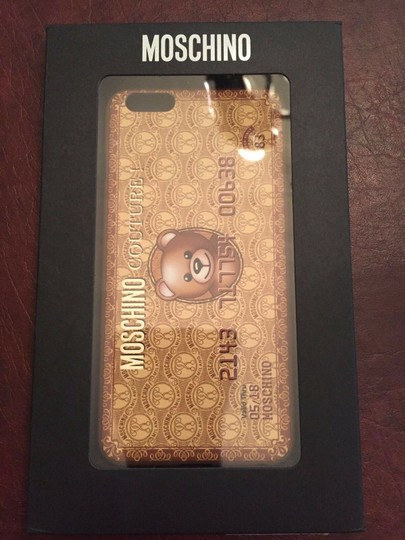 Moschino Jeremy Scott Gold Bear Credit Card iPhone 6 Plus/6S Plus Case Image 2