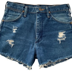 Wrangler Cut Off Shorts blue denim