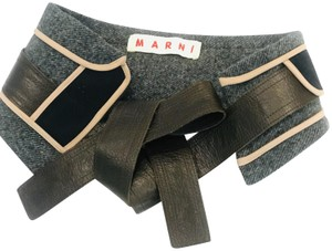 Marni wool panel insert belt