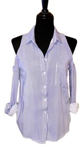 Ambiance Button Down Shirt Blue & White