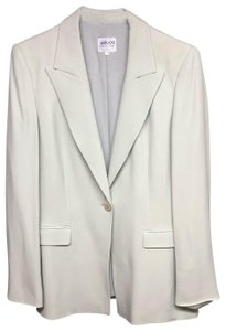 Armani Collezioni Armani Collezioni Made in Italy Light Green Silk Pant Suit 8