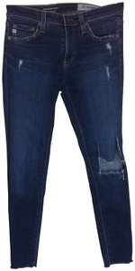 AG Adriano Goldschmied Distressed Cotton Skinny Jeans-Distressed