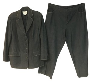 Oscar by Oscar de la Renta Oscar by Oscar de la Renta Made in Italy Stretch Wool Cotton Pant Suit
