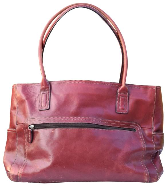 Item - Organizer Red Leather Tote
