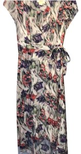 white/purple/red Maxi Dress by Anthropologie
