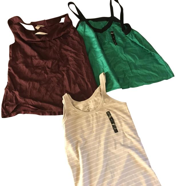 Item - 3 For 1. Plum- Gray Striped Green/ Navy Blue With Tags 1m / Burgundy Halter Top Size 16 (XL, Plus 0x)