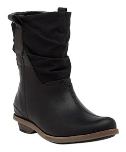 a2397b0a38 Merrell Black Adeline Leather Mid Slouch Boots/Booties Size US 7.5 ...