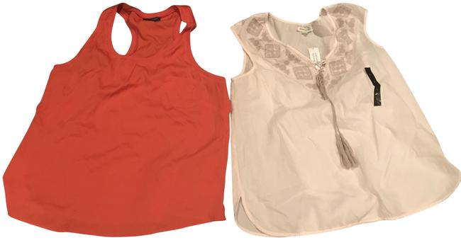 Item - 2 For 1 Tangerine Tank - Pink Soho Tops Soft Blouse Size 16 (XL, Plus 0x)