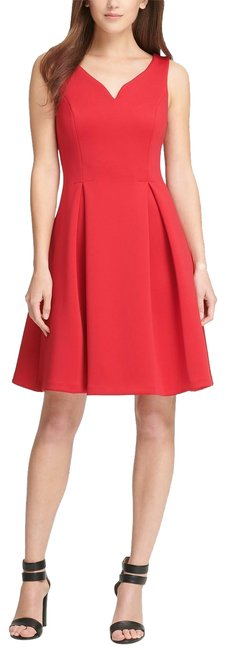 Preload https://img-static.tradesy.com/item/25492900/dkny-red-scuba-sweetheart-fit-and-flare-scarlet-mid-length-workoffice-dress-size-2-xs-0-1-650-650.jpg