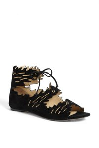Charlotte Olympia Suede black Sandals