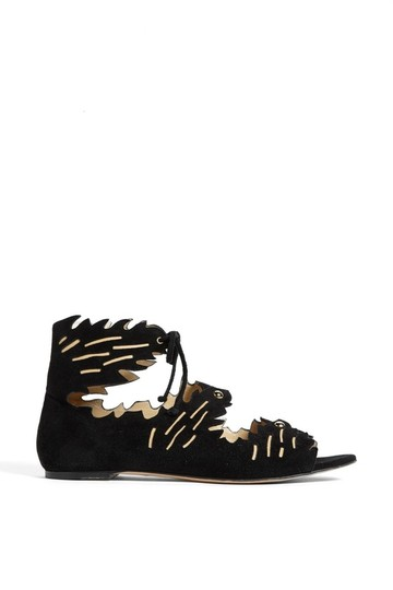 Charlotte Olympia Suede black Sandals Image 1