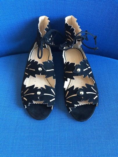 Charlotte Olympia Suede black Sandals Image 4