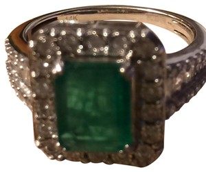 EFFY Collection 2 1/5 carat Emerald with Diamonds Effy brasilica 14K Diamond Ring with Precious emerald