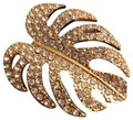 Banana Republic Crystal Philodendron Leaf Pin Image 3