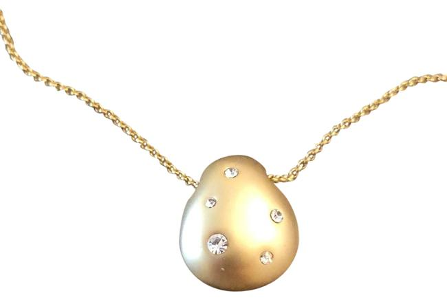 Item - Gold Crystal Pendant Necklace