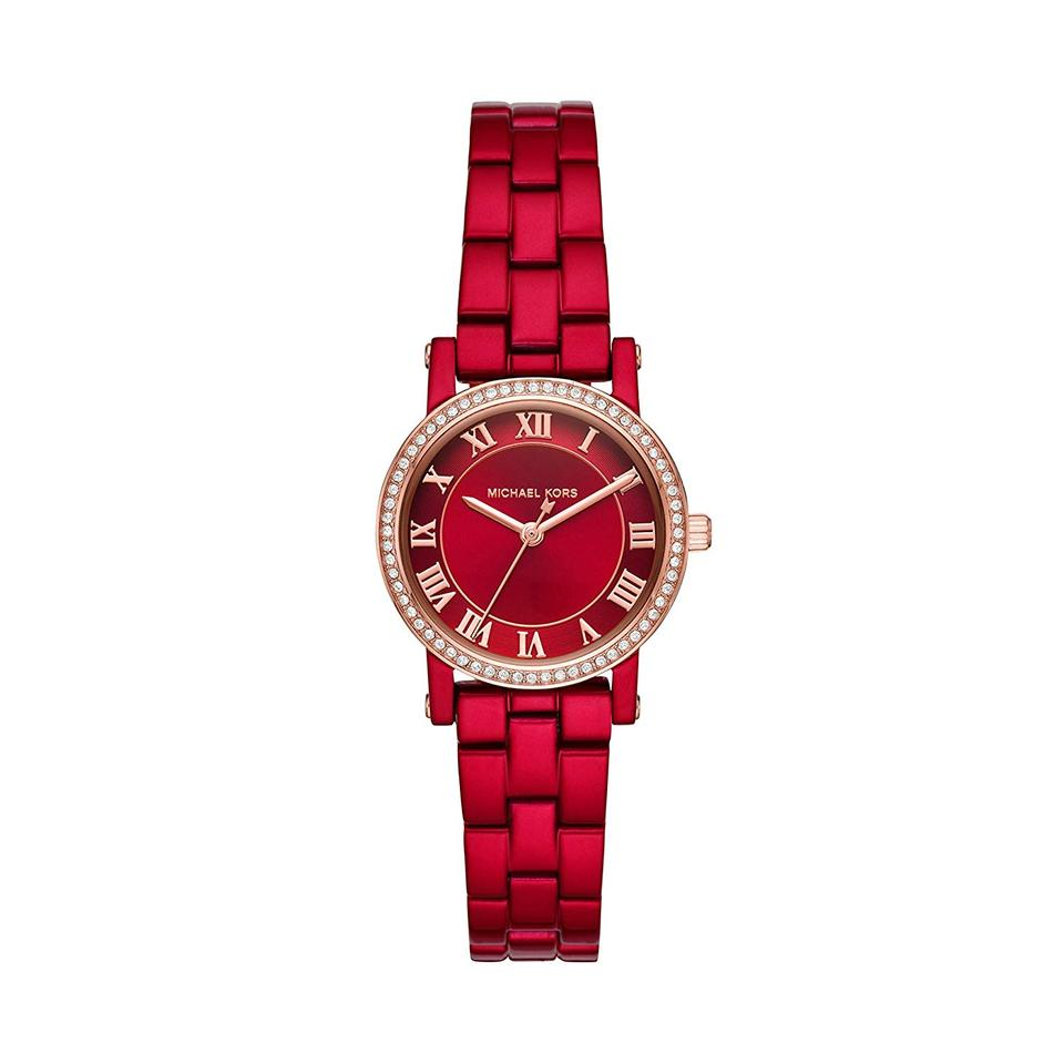 0d33bce51 Michael Kors Michael Kors Women's Norie Red Coated Stainless Steel Watch  MK3896 Image 0 ...