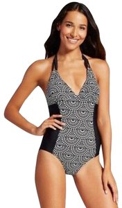 976bd43672 Merona Merona black and white halter top one piece swimsuit