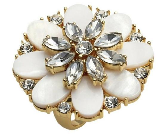 Kate Spade NEW Bungalow Bouquet Cocktail Ring Image 2