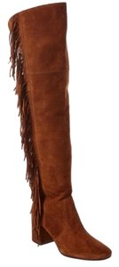 Frye Over-the-knee Jodi Fringe Suede Brown Boots