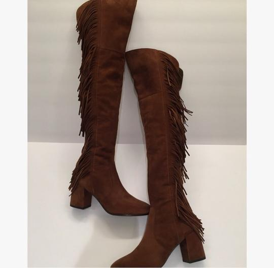 Frye Over-the-knee Jodi Fringe Suede Brown Boots Image 1