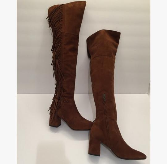 Frye Over-the-knee Jodi Fringe Suede Brown Boots Image 2