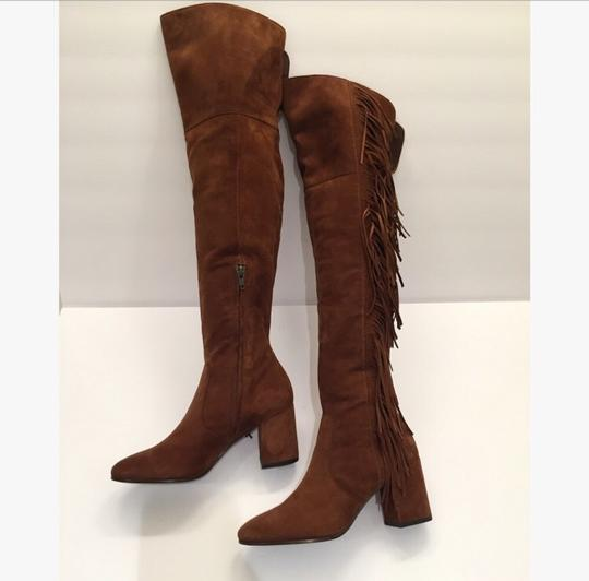 Frye Over-the-knee Jodi Fringe Suede Brown Boots Image 3