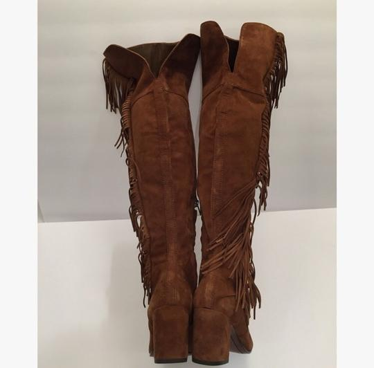 Frye Over-the-knee Jodi Fringe Suede Brown Boots Image 4
