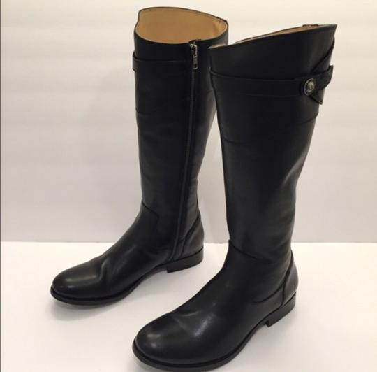 Frye Molly Button' Knee High Riding Leather Black Boots Image 1