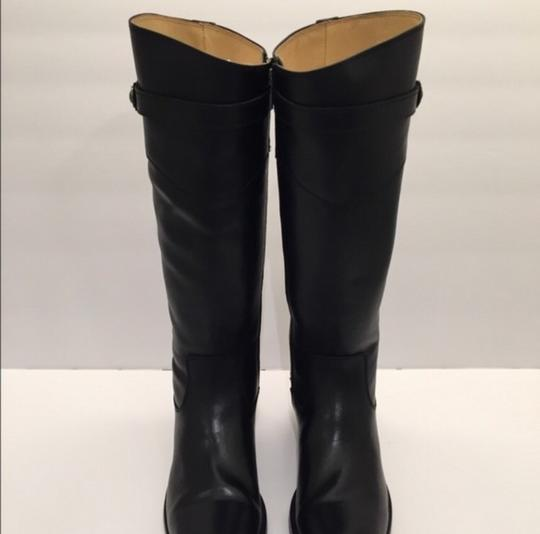Frye Molly Button' Knee High Riding Leather Black Boots Image 2