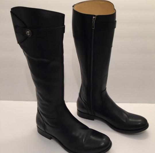 Frye Molly Button' Knee High Riding Leather Black Boots Image 3