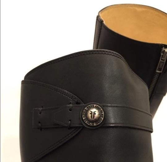 Frye Molly Button' Knee High Riding Leather Black Boots Image 4