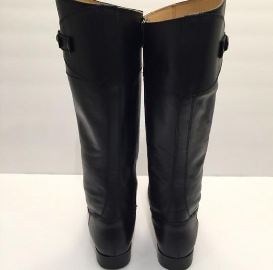 Frye Molly Button' Knee High Riding Leather Black Boots Image 5