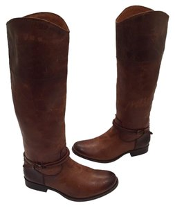 Frye Melissa Seam Leather Brown Boots