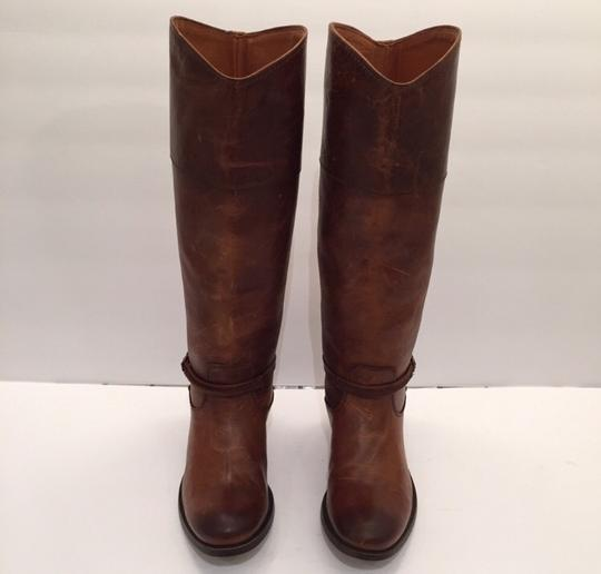 Frye Melissa Seam Leather Brown Boots Image 1