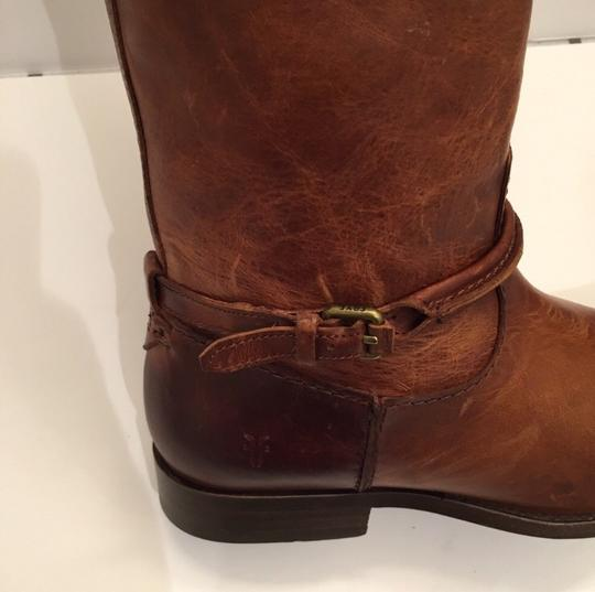 Frye Melissa Seam Leather Brown Boots Image 2