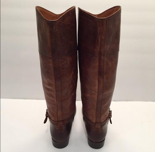 Frye Melissa Seam Leather Brown Boots Image 5