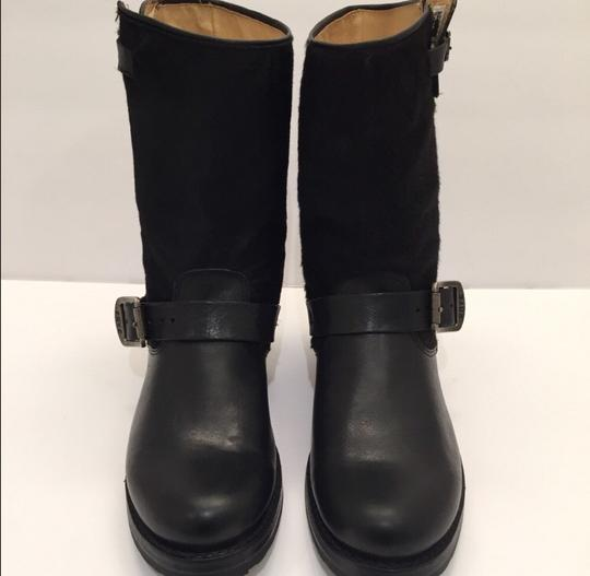 Frye Veronica Genuine Calf Hair Leather Black Boots Image 1