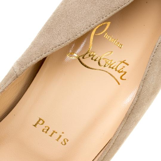 Christian Louboutin Suede Crystal Beige Pumps Image 6