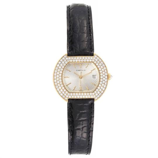 Cartier Cartier Tortue 18K Yellow Gold Diamond Silver Dial Ladies Watch 1481 Image 1