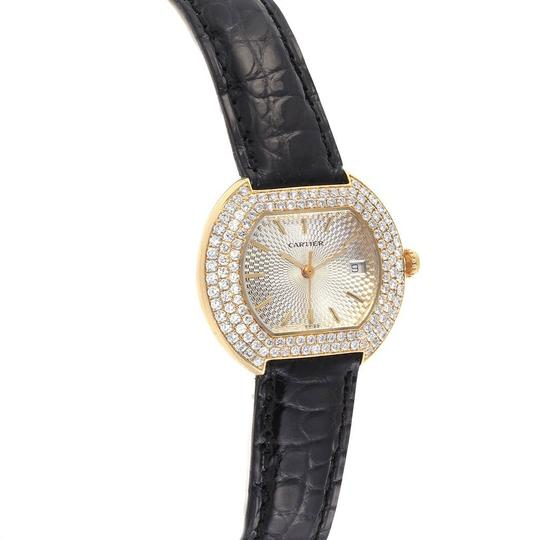 Cartier Cartier Tortue 18K Yellow Gold Diamond Silver Dial Ladies Watch 1481 Image 2