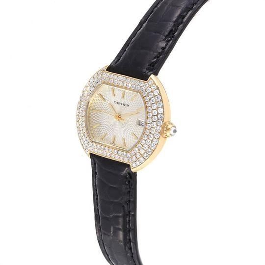 Cartier Cartier Tortue 18K Yellow Gold Diamond Silver Dial Ladies Watch 1481 Image 3