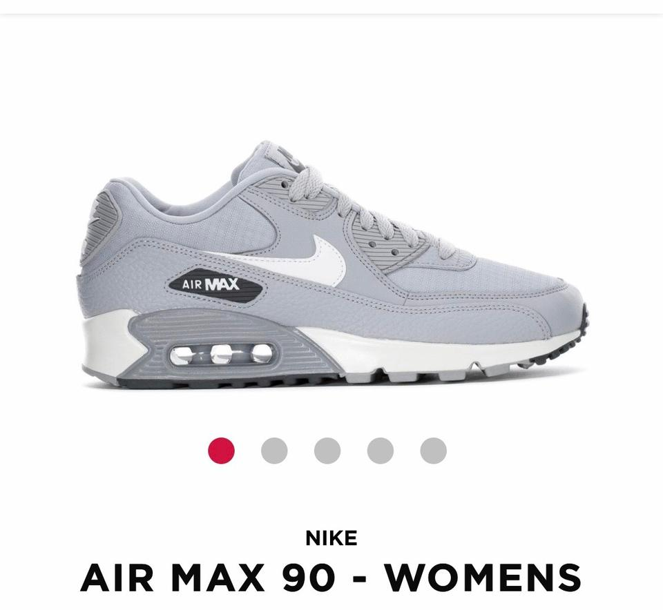 Nike Wolf GreyWhite Air Max 90 Sneakers Size US 11 Regular (M, B)