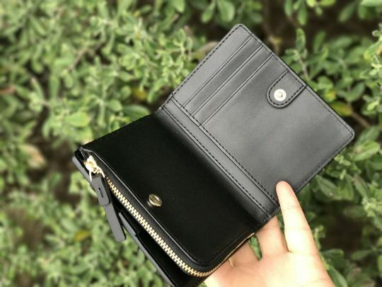 kate spade Kate Spade Larchmont Avenue Small Shawn Black Card Case Coin Wallet Image 4