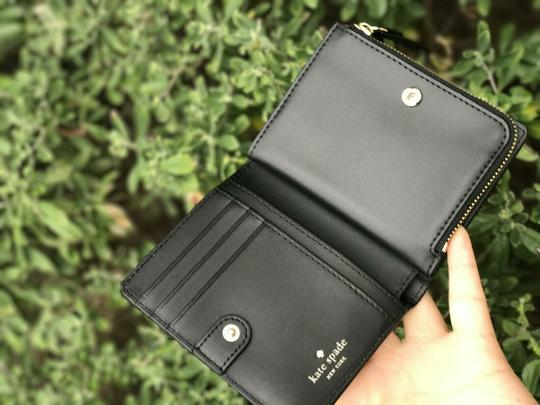 Kate Spade Kate Spade Larchmont Avenue Small Shawn Black Card Case Coin Wallet Image 3