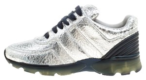 Chanel Silver Metallic Athletic