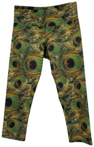 Onzie Onzie Green Peacock Crop Yoga Leggings