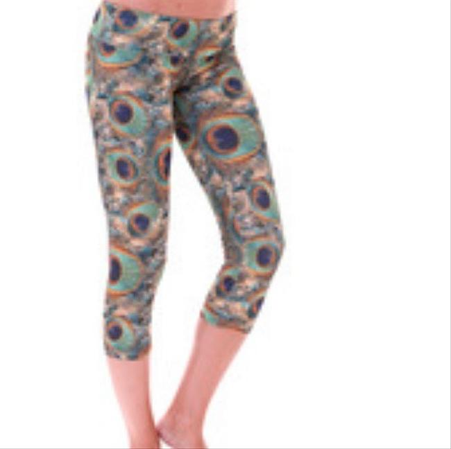 Onzie Onzie Green Peacock Crop Yoga Leggings Image 2