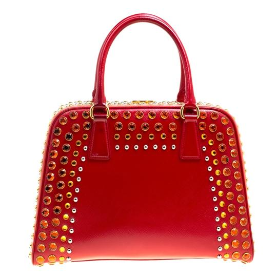 Prada Patent Leather Top Handle Satchel in Red Image 1