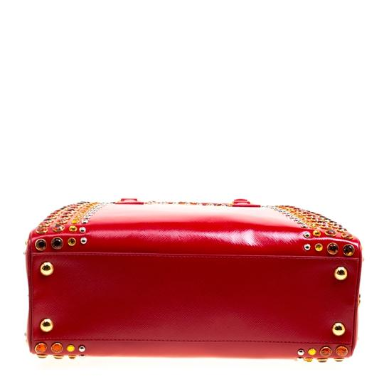 Prada Patent Leather Top Handle Satchel in Red Image 4